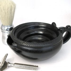 Large Shaving Scuttle #2 - Satin Black