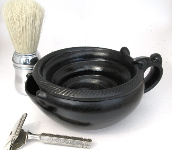 Large Shaving Scuttle #2 - Satin Black